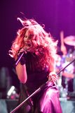 Delain Dutch metal band perform in Budapest Royalty Free Stock Photography