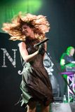 Delain Dutch metal band perform in Budapest Royalty Free Stock Image