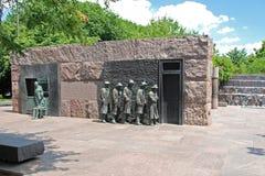 delano Franklin głoduje ja Roosevelt rzeźba Obrazy Stock