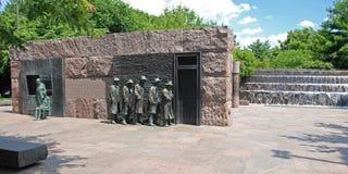 delano Franklin głoduje ja Roosevelt rzeźba Obrazy Royalty Free