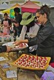 Delantal del festival del chocolate de Ghirardelli Imagen de archivo libre de regalías