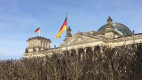 Delante de Berlin Reichstag Parliament Building metrajes