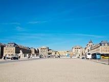 Delante del castillo de Versalles en Francia Fotografía de archivo libre de regalías