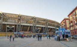 Delante del estadio San Paolo, Napoli Imagen de archivo