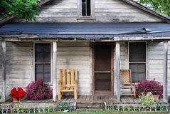 Delapidated house. The front porch of a house that needs some TLC royalty free stock images