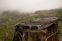 Delapidated Skagway桥梁 免版税图库摄影