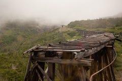 Delapidated Skagway bro royaltyfri fotografi