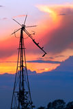 Delapidated Windmill at Sunset Royalty Free Stock Photo