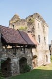 Delar av slotten Schaumburg - Österrike Arkivbilder