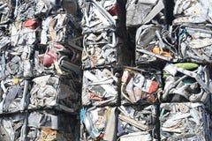 Delar för metall för rest skeppsbrutna och krossade, arkivfoton