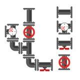 Delar för rörmokeri för vattenrör med ventilen Arkivbild