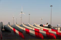 Delar för vindturbin Royaltyfri Foto