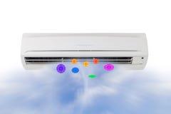 delat system för luftkonditioneringsapparatillustration arkivfoton