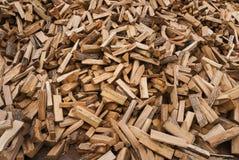 delat trä för brandstapel Arkivbild