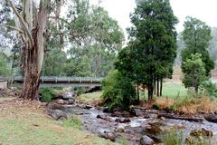 Delatite河Mt教宗通谕所盖之圆玺维多利亚澳大利亚2 库存图片