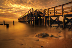Delaware Bay Fishing Pier Royalty Free Stock Photos