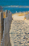 Delaware Beach Walk. Fence to Delaware Beach walkway Royalty Free Stock Photo