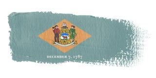 Delaware brushstroke flagę Fotografia Royalty Free