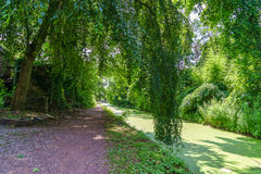 Delaware Canal Towpath, New Hope, PA. USA stock image