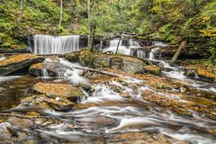 Delaware Falls at Ricketts Glen, Pennsylvania Stock Photos