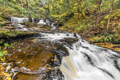 Autumn at Delaware Falls - Ricketts Glen, Pennsylvania Royalty Free Stock Image