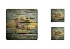 Delaware Flag Buttons Royalty Free Stock Photos