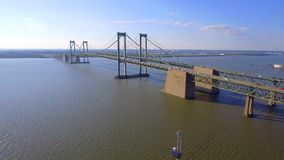 Delaware Memorial Bridge stock video