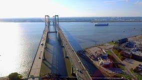Delaware Memorial Bridge stock video