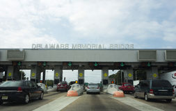 Delaware Memorial Bridge Tollbooth Royalty Free Stock Photography