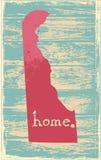 Delaware nostalgic rustic vintage state vector sign Stock Images