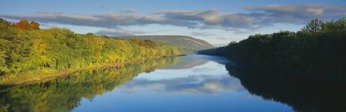 Delaware River in Autumn. Near Port Jarvis, Pennsylvania Royalty Free Stock Image