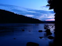 Delaware River on a beautiful Summer Day royalty free stock images