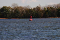 Delaware River buoy Royalty Free Stock Photos