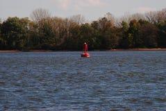 Delaware River buoy. The Philadelphia side of the Delaware River Royalty Free Stock Photos