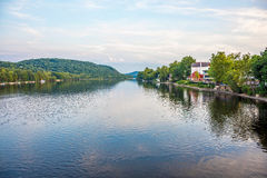 Delaware River sikt arkivfoto