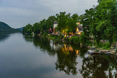 Delaware river at summer from Historic New Hope, PA. USA Stock Image