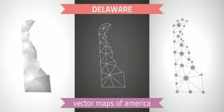 Delaware-Satz Grau und polygonale Karten des Silbermosaiks 3d Grafische Vektordreieckgeometrieentwurfs-Schattenperspektive zeichn Lizenzfreie Stockfotos
