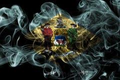 Delaware stanu dymu flaga, Stany Zjednoczone Ameryka Obrazy Stock