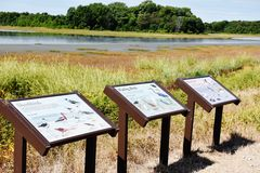 Delaware state bombay hook wildlife refuge usa Royalty Free Stock Image