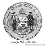 Delaware State Seal Royalty Free Stock Image