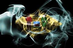 Delaware state smoke flag, United States Of America.  vector illustration