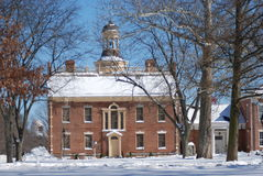 Delaware statKapitolium i snön Arkivbilder