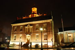 Delaware statKapitolium på natten Fotografering för Bildbyråer