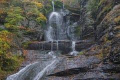 Free Delaware Township, Pike County, Pennsylvania, USA: Autumn Foliage Surrounds Dingman's Falls Stock Photo - 177999970