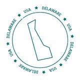 Delaware vector map. Royalty Free Stock Photos