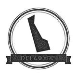 Delaware vector map stamp. Royalty Free Stock Photo