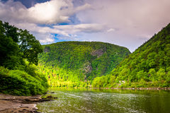 The Delaware Water Gap seen from Kittatinny Point in Delaware Wa Royalty Free Stock Images