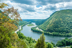 Delaware Water Gap. View from Mt. Tammany, New Jersey side Royalty Free Stock Photos
