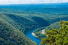 Delaware Water Gap. View from Mt. Tammany, New Jersey side Royalty Free Stock Images