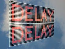 Delay stock illustration